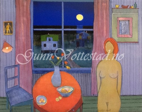 Lengsel i månelys natt (variant) kr. 4 100,-