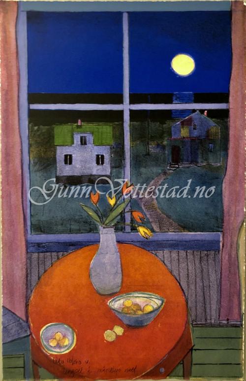 Lengsel i månelys natt KR 4100,-